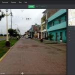Captura de pantalla de fotos a nivel de calle en mapillary.com
